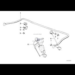 Poduszka gumowa stabilizatora - 31352227365