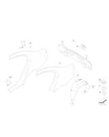 Blacha wzmacniająca słupka C lewa - 41217275578