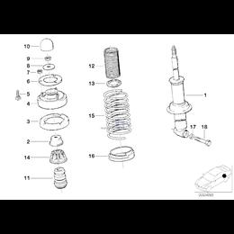 Amortyzator dodatkowy tylny - 33532226186