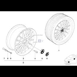 Obręcz koła aluminiowa - 36111091991