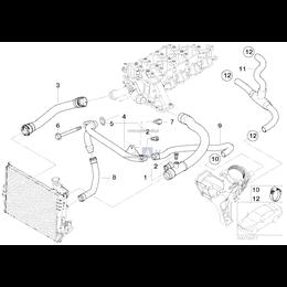 Przewód elastyczny układu chłodzenia - 11537785417