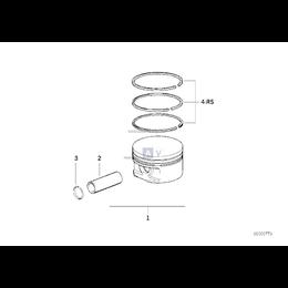 Kpl. pierścieni tłokowych - 11251247918