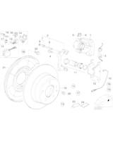Tarcza hamulcowa tył BMW E36 E46 - Oryginał BMW - 34216855158