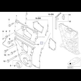 Uszczelki pokrywy rozrządu BMW E36 316is M44 - 11141247429