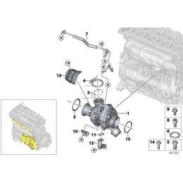 Uszczelka turbosprężarki BMW E34 E36 E38 E39 E38 E46 E60 E61 E65 E70 E81 E83 E90 E87 F01 F07 F10 F20 F30 F36 R55 G11 - 11422246091