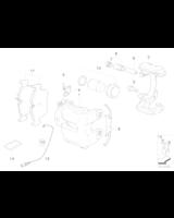 Czujnik klocków hamulcowych przód BMW E84 X1 E90N E91N E92N 320xd 325xi 328xi 330xi 330xd 335xi - 34356792561