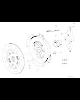 AT-Komplet sprzęgła BMW E34 M5 S38 - 21212227246