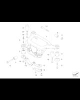 Poduszka gumowa belki wózka tył przednia BMW E46 E85 Z4 318d 320d - 33176770768