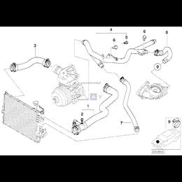 Przewód wąż ukł. chłodzenia BMW BMW E46 330xd 330d M57 - 11532247852
