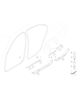 M Osłona progu, tylna prawa - 51477897246