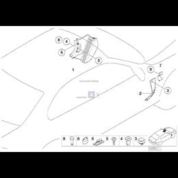 Dla samochodów z Light beige 2, Osłona - 51438212185