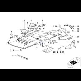 Kanał powietrza środkowy M-technic BMW E36 316i 318i 318is 320i 323i 325i 328i M3 sedan coupe cabrio - 51712250643