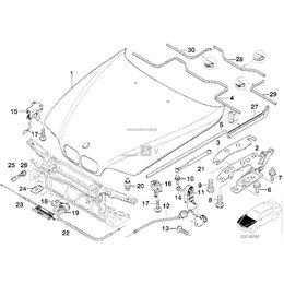 Osłona gumaowa zawiasu maski - Oryginał BMW - 51718215268