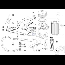 Gniazdo wspornika oleju BMW E31 E32 E34 E38 730i 740i 840i 850i 530i 540i M60 M73 - 11421745392