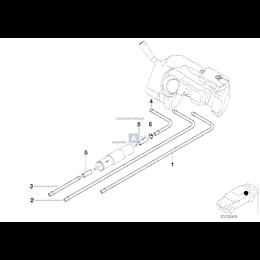 Przewód dopływu paliwa tylny - 16122228501