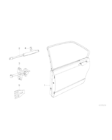 Amortyzator pokrywy silnika maski BMW E30 316i 318i 320i 323i 324d 325i 325ix 325e M3 - 51231906286