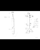 Amortyzator przód BMW E34 525 530 535 540 524 prod. po 07.90r. - 31321092284