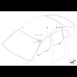 Szyba boczna E60 - Oryginał BMW - 51357110636