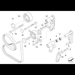 Zaślepka ochronna rolki BMW E30 E31 E32 E36 E38 E39 E46 E53 E60 E61 E83 Z3 - 11281727159