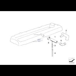 Przewód elastyczny odpowietrzający BMW E34 E32 M30 730 735 530 535 - 11151276485