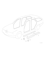 Klamra listwy progu BMW E34 518 520 525 530 535 540 M5 - 51471928808