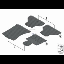 Kpl. dyw. podłog. gum. tyln. 'Klassik' - 51472154870
