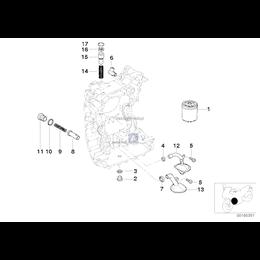 Filtr oleju BMW Motorrad K08 K09 K18 K19 K21 K22 K23 K25 K26 K27 K28 K29 K32 K33 K48 K61 I3 - 11427673541
