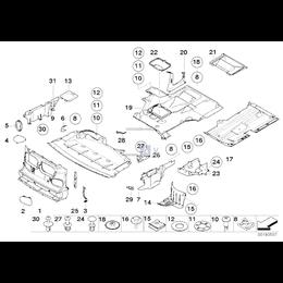 Osłona przedziału silnika, górna prawa - 51717016562
