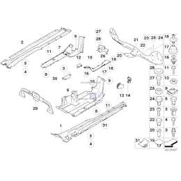 Osłona dolna pojazdu, zbiornik lewa str. - 51718408767