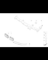 Listwa pod reflektor E39 lewa - Oryginał BMW - 51138168809