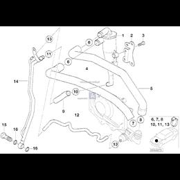 Elastyczny przewód olejowy odpływ BMW E53 X5 4,4i 4,6is - 11151438302