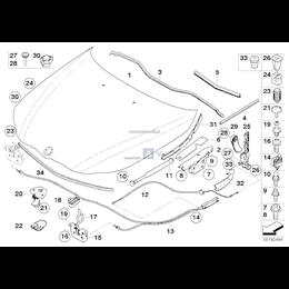 Osłona rynienki odwadn., przed., lewa - 51717034159