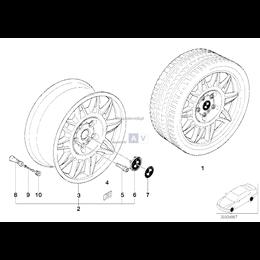 Obręcz koła aluminiowa - 36112228150