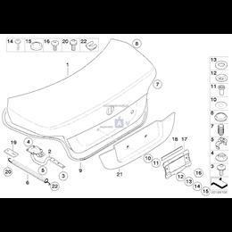 Uszczelka pokrywy bagażnika - 51767110420