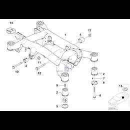 Poduszka gumowa tylna - 33171090089