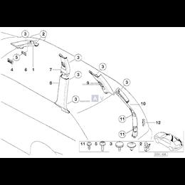 Obudowa słupka tylnego, lewa - 51438250225