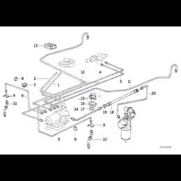 Przewód hamulcowy elastyczny, przedni - 34511090565