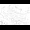 Kanał powietrza hamulca przedni prawy - 51712233362