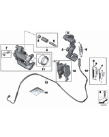Klocki hamulcowe tył BMW F20 F21 F22 F23 F31 F30 F32 F33 F34 F36 - 34216873093