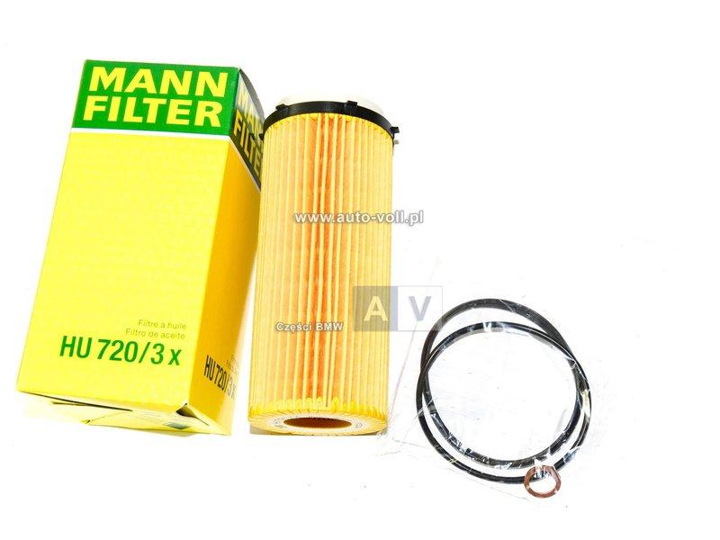 HU720/3x Filtr oleju BMW E90 F01 F07 F10 530 535 525 325 330