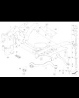 Wahacz rozprężny z poduszką gum. lewy E60 E61 E63 E64 - 31126774825