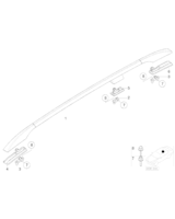 Adapter relingu dach., przód le./tył pr. - 51137030879