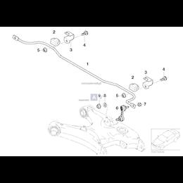 Poduszka gumowa stabilizatora - 33552229604