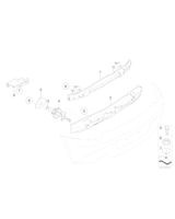 Absorber uderzenia tylny prawy - 51127062818