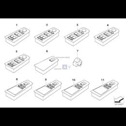 Przełącznik podnośnika szyby - 61316946009