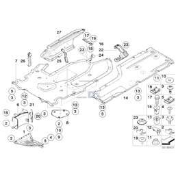 Osłona komory silnika boczna, prawa - 51757203964