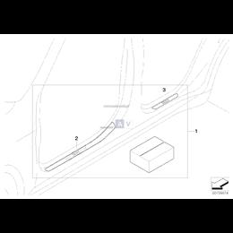 Listwy progowe ze stali nierdzewnej BMW X5 X6 - 51470426783
