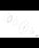 Łożysko koła przód BMW E90 325xi 330xi 335xi E60 530xd 525xd E53 X5 - 31226783913