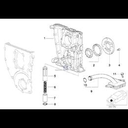 Wirnik komplet pompy oleju Pokrywa pompy oleju BMW E30 E34 E36 E46 316i 318i 318is 318ti 518i Z3 M40 M42 M43 M44 - 11141714611