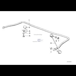 Poduszka gumowa stabilizatora - 31352226001